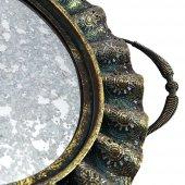 Vitale Oval Duvar Aynası (Eskitme Yeşil)