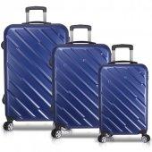 Bavyera Basic Abs 3 Lu Valiz, Bavul Seti (Kabin+orta+buyuk Boy)