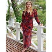 Penye Mood 8405 Kadın Elbisesi Kırmızı