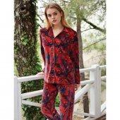 Penye Mood 8403 Kadın Pijama Takımı Kiremit