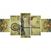 5 Parça Osmanlı Tuğra Ve Kaftan Temalı Kanvas Tablo (Model 2)