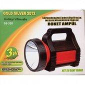 Gold Silver Şarjlı El Feneri Gs 320 Roket Ampül