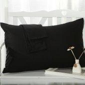 Aqua Home İkili Yastık Kılıfı Siyah 50x70