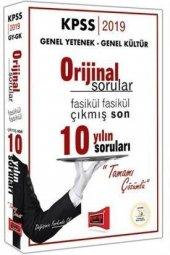 Yargı Yayınları 2019 Kpss Genel Yetenek Genel Kültür Orijinal Sorular Fasikül Fasikül Tamamı Çözümlü Çıkmış Son 10 Yılın Sorular