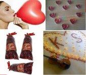 Romantik Sürpriz Gül Yapraklı Süsleme 1000 Gül+20 Balon+20 Mum