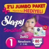 2'li Jumbo Newborn 2x40 Adet (2 5 Kg)