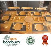 Bambum İkon 57 Parça Kahvaltı Seti 6 Kişilik Bambum Kahvaltı Takımı %100 Orjinal Antibakteriyel (Orjinal Bambum Sertifikalıdır)