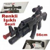ışıklı Sesli Oyuncak Dürbünlü Tüfek Komando Tüfeği M16