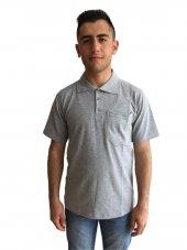 Polo Yaka T Shirt Gri
