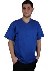 V Yaka İşçi T Shirt