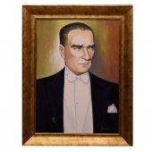 Kırmızı Sanat Evi Cerceve 82x62 Ataturk Portresı 70x50 Yağlı Bo