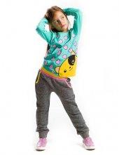 Denokids Sevgili Ayı Kız Çocuk Sweat Pantolon Takım