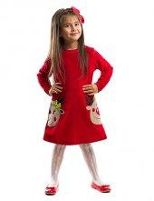Denokids Yılbaşı İkiz Geyik Kız Çocuk Elbise