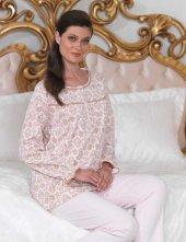 şahinler Düğmeli Bayan Pijama Takımı Pembe Mbp23104 2