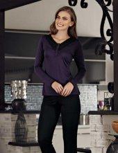 şahinler Düğmeli Kadın Pijama Takımı Mor Mbp23114 1