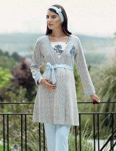 şahinler Üçlü Lohusa Pijama Takımı Mavi Mbp23727 2