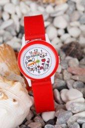 Silikon Kordonlu Resimli İç Tasarım Çocuk Saati