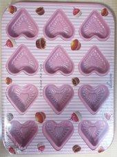 Lavin Kalp Muffin Kek Kalıbı Bölmeli