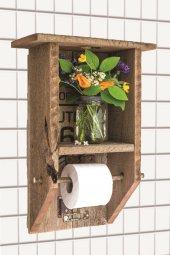 Qtük Ağaç Asılabilir Tuvalet Kağıtlığı 40cm