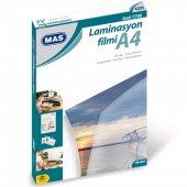 Laminasyon Filmi Mas 125 Mic. A4 100 Lü Paket 7706