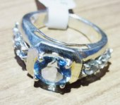 Mavi Topaz Gümüş Yüzük