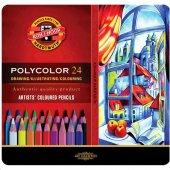 Kohi Noor Polycolor Kuru Boya Kalemi 24 Renk Set