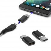 2 Adet Huawei P20 Lite Micro Usb To Type C Dönüştürücü Adaptör