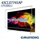 Grundıg 43clx7745ap Tv Ekran Koruyucu Ekran Koruma Camı Etiasglass