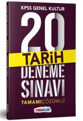 Yediiklim Yayınları 2019 Kpss Genel Kültür Tarih Tamamı Çözümlü 20 Deneme Sınavı