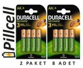 Duracell Recharge 1300 Mah Şarjedilebilir Kalem Pil X 2 Paket