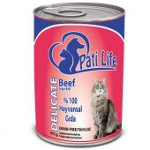 Pati Life Sığır Etli Konserve Yetişkin Kedi Maması...