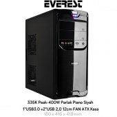 Everest 335k Peak 400w Mid Tower Siyah Kasa
