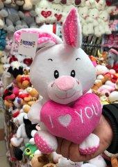 25cm Kalpli Şirin Tavşan Peluş Oyuncak Kaliteli Sağlıklı Peluşcu