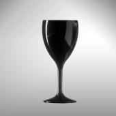 Polikarbonat Premium Kırılmaz Şarap Bardağı Siyah ...