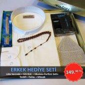 Erkek Hediye Seti Seccade+ Gömlek+ Parfüm Set+ Tesbih + Takke