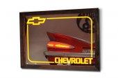 Chevrolet Sarı Ledli Dekoratif Ayna