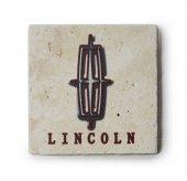 Lincoln Logolu Doğal Traverten Bardak Altlığı