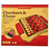 Oyun Satranç Dama Mıknatıslı Orta Boy Eğitici Oyuncak