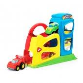 Erkek Çocuk Oyuncak Garaj Set 2 Katlı 2 Araçlı Eğitici Çocuk Oyun
