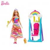 Barbie Dreamtopia Gökkuşağı Prensesi Oyuncak Bebek Salıncaklı Pre