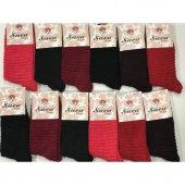 6&#039 Lı Paket Bayan Kışlık Ters Havlu Çorap