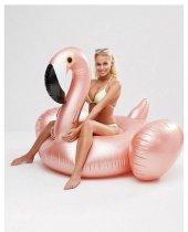 Rose Gold Flamingo Float Deniz Yatağı Çocuk Ve Yetişkine Deniz Ad