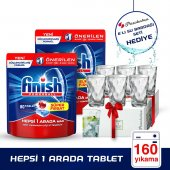 Finish Hepsi Bir Arada Tablet 80x2 Adet + Paşabahçe Bardak Hediye