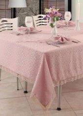 Fransız Güpürlü Masa Örtüsü Pudra 160x220cm Dertsiz Kumaş