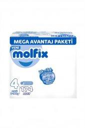 Molfix 3d Maxi 174lü Mega Avantaj Paketi 7 14 Kg 4 Numara