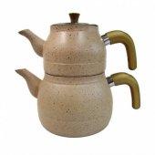 Zümrüt Granit Cam Kapaklı Çaydanlık Kapicino