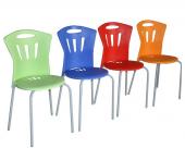 6lı Balkon Bahçe Sandalyesi Mutfak Plastik Sandalye