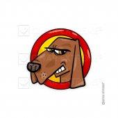 Kızgın Köpek Sticker Çınarextreme