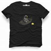 Tshirthane Nasa Uzay Astronot Dünya Ay Tişört Erkek Tshirt