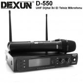 Dexun D 550e Uhf Dijital İki Kanal Telsiz Mikrofon
